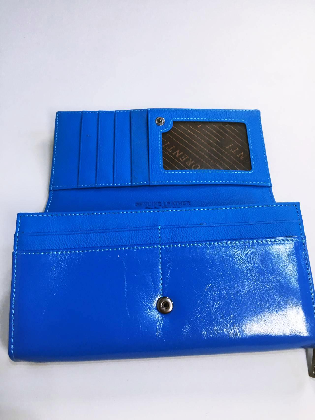Kožená peněženka Lorenti Silver Blue 06