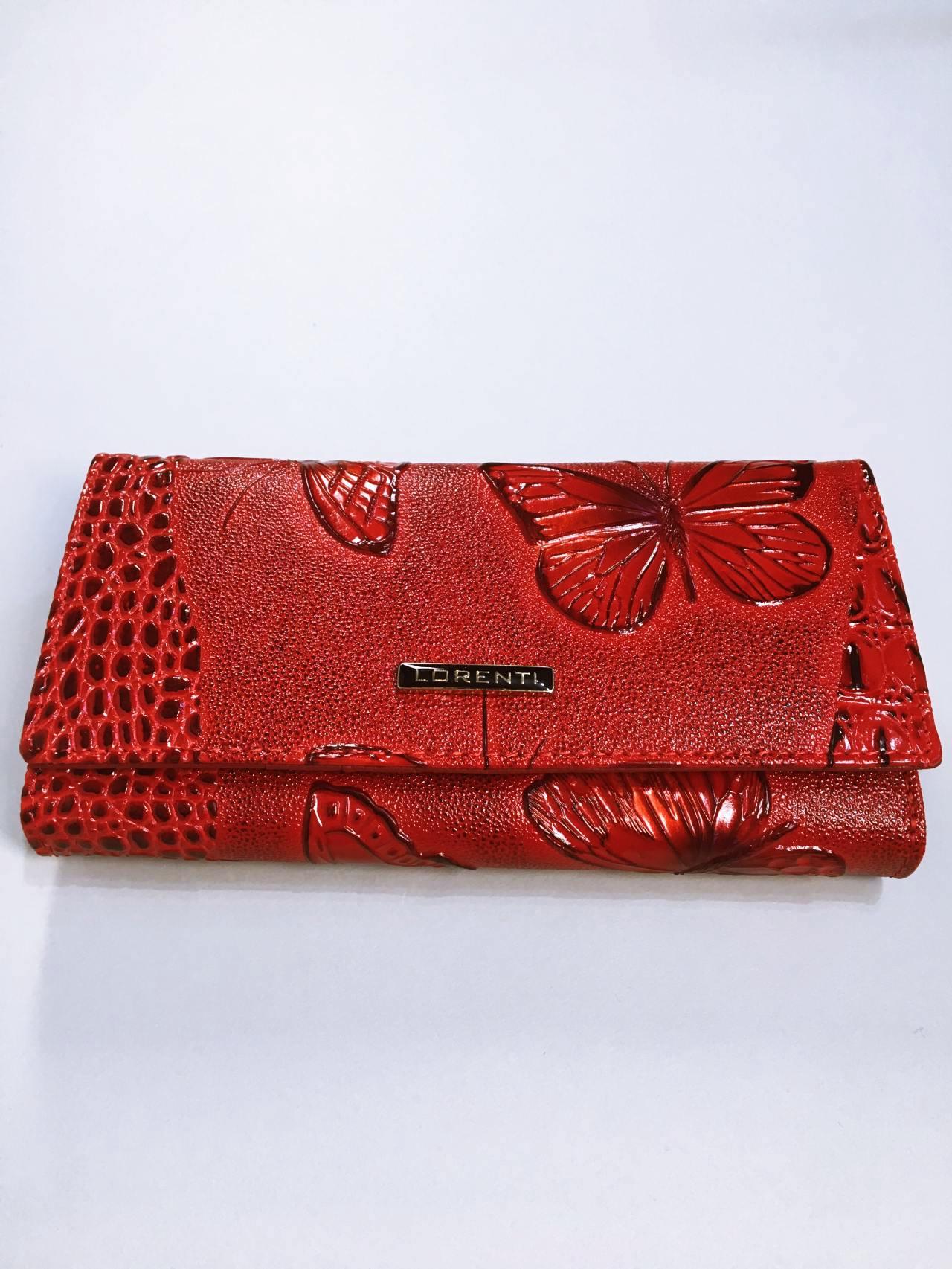 Kožená peněženka Lorenti červená 01