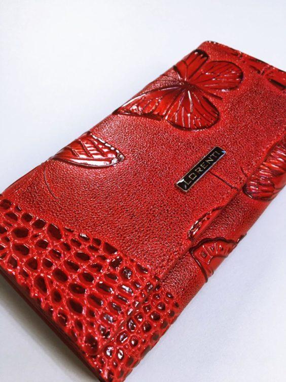 Kožená peněženka Lorenti červená 02