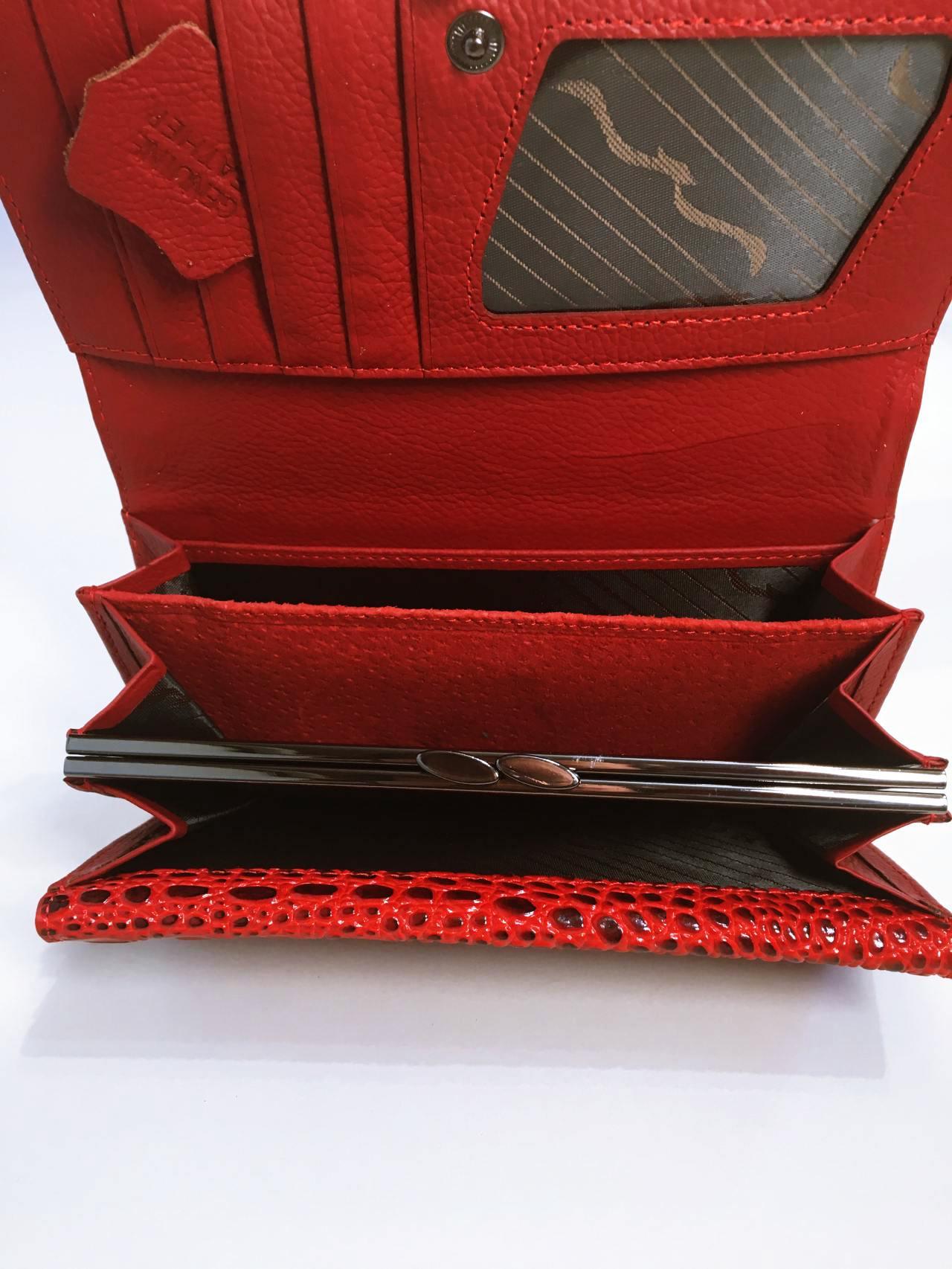 Kožená peněženka Lorenti červená 04
