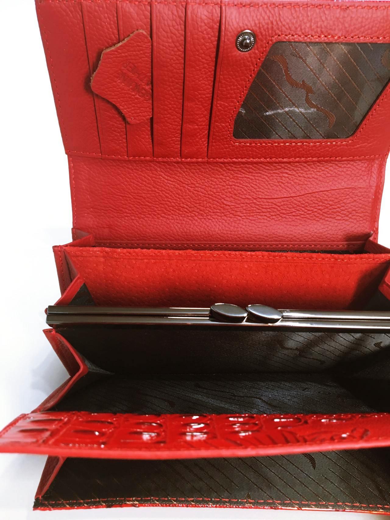 Kožená peněženka Lorenti červená 05