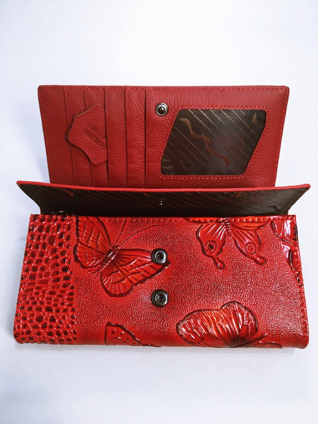 Kožená peněženka Lorenti červená 06