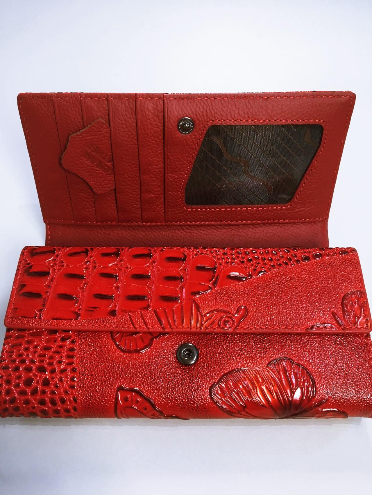 Kožená peněženka Lorenti červená 07