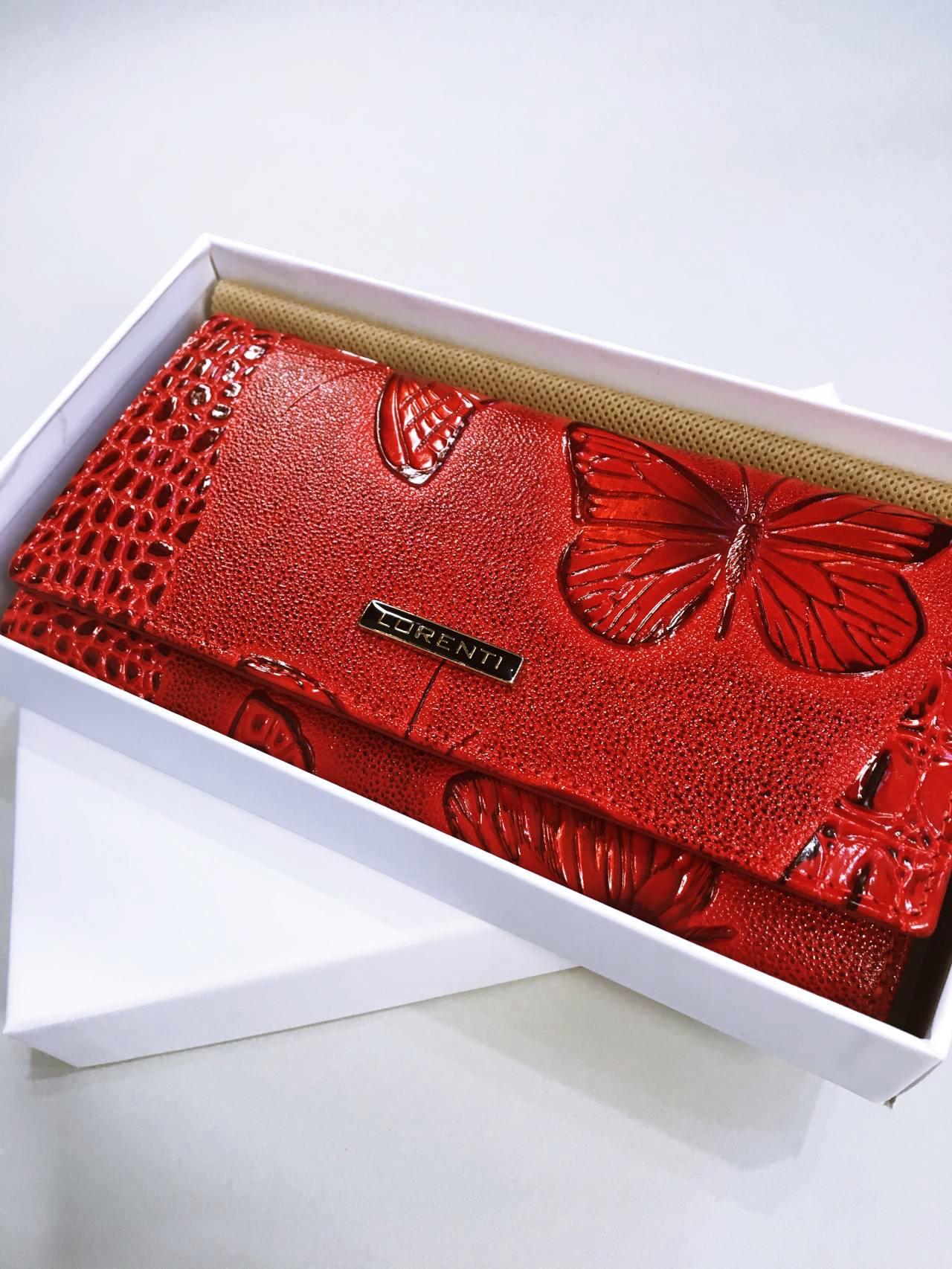 Kožená peněženka Lorenti červená 08