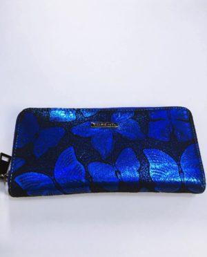 Kožená peněženka Lorenti modrá 01