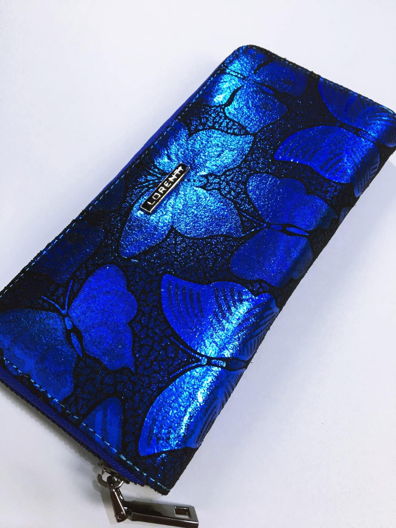 Kožená peněženka Lorenti modrá 02