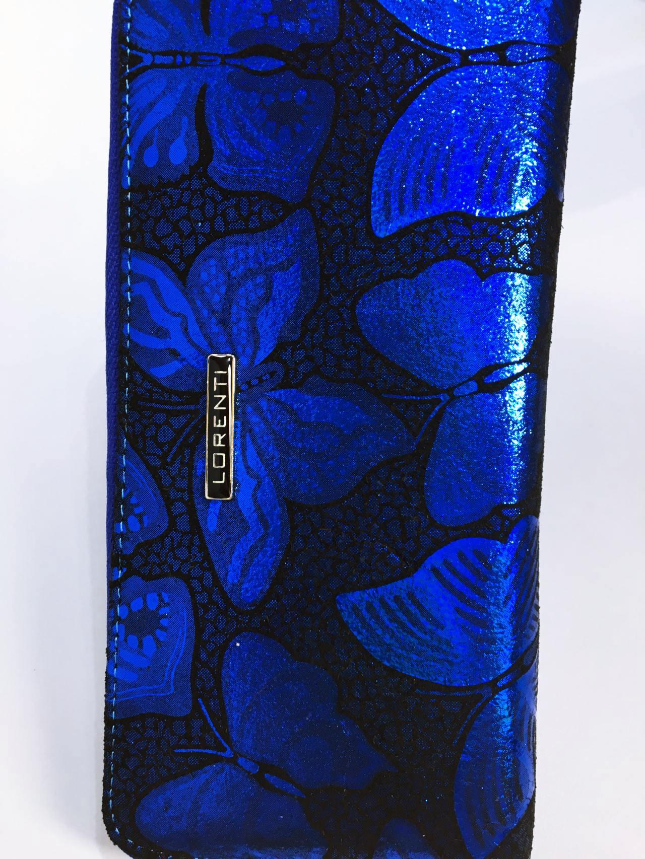 Kožená peněženka Lorenti modrá 03