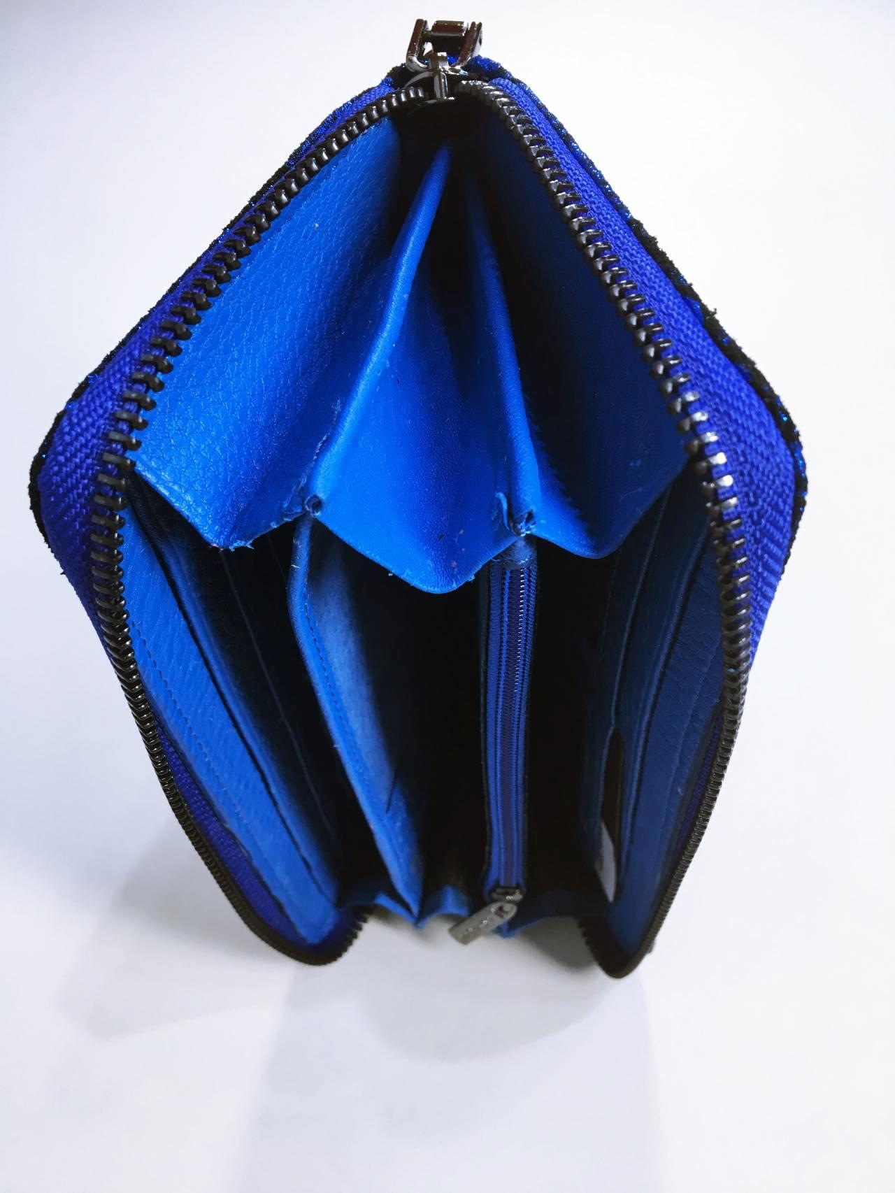 Kožená peněženka Lorenti modrá 04