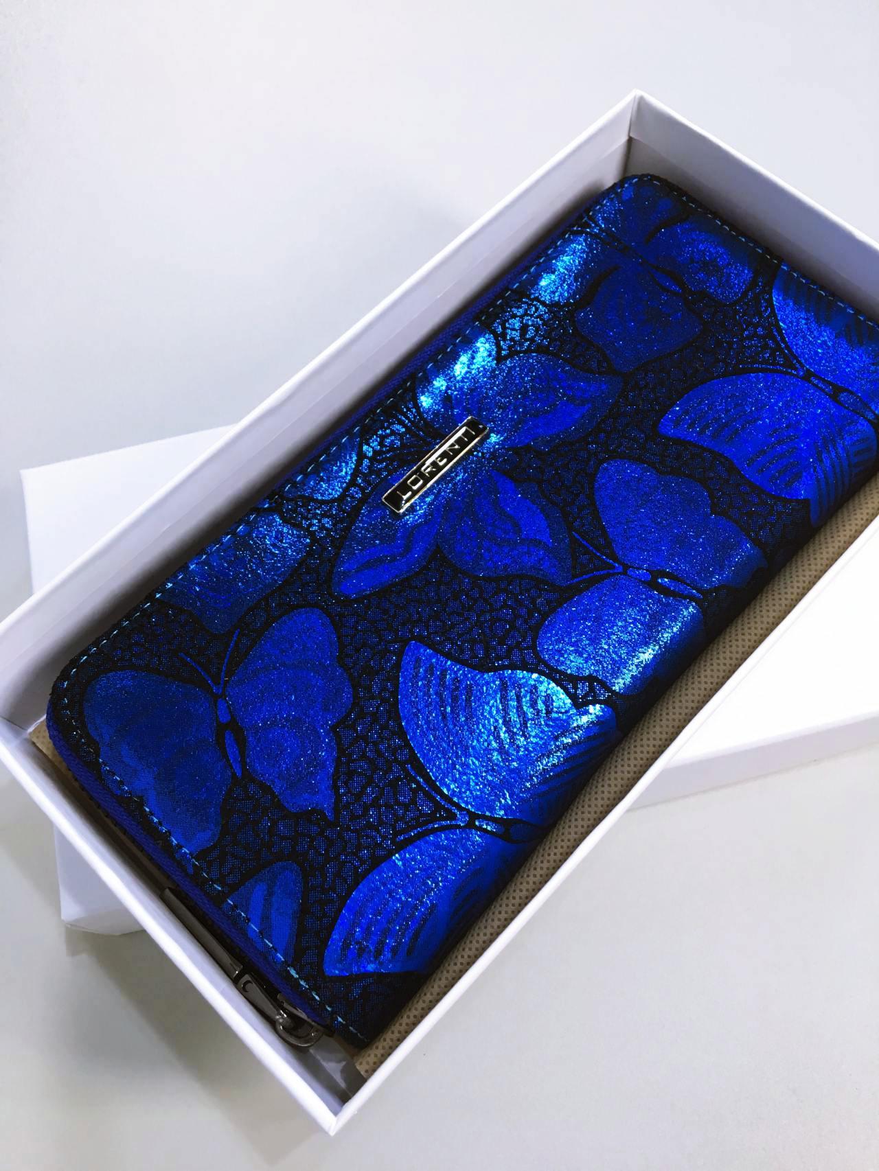 Kožená peněženka Lorenti modrá 05