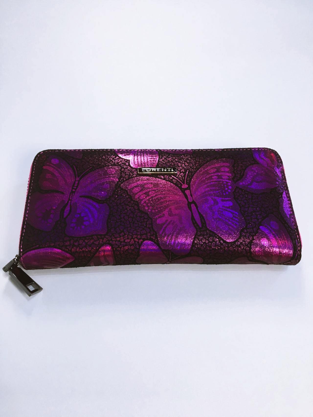 Kožená peněženka Lorenti růžová 02