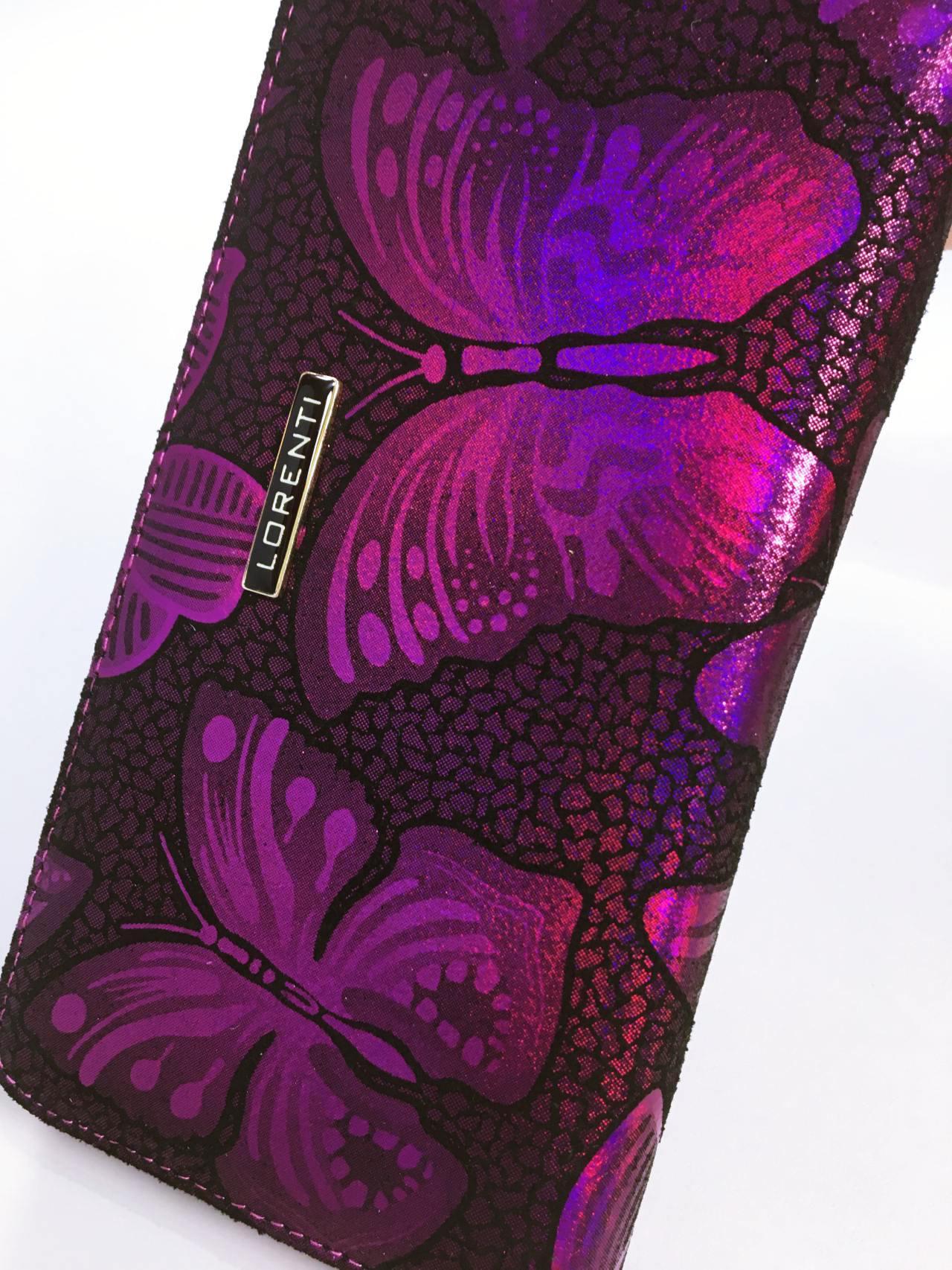 Kožená peněženka Lorenti růžová 03