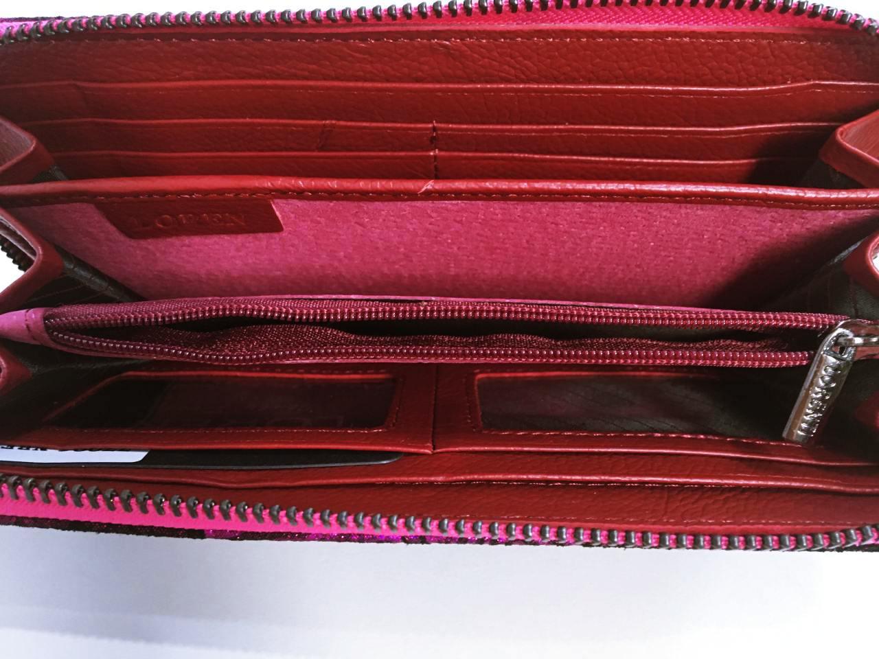 Kožená peněženka Lorenti růžová 04