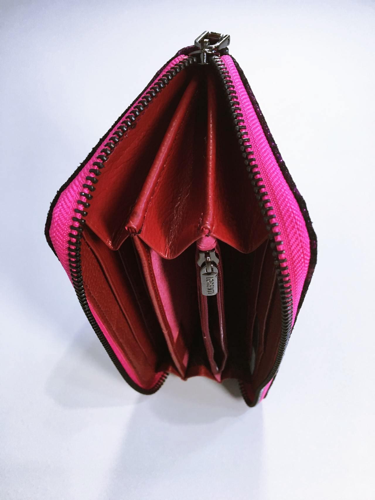 Kožená peněženka Lorenti růžová 05
