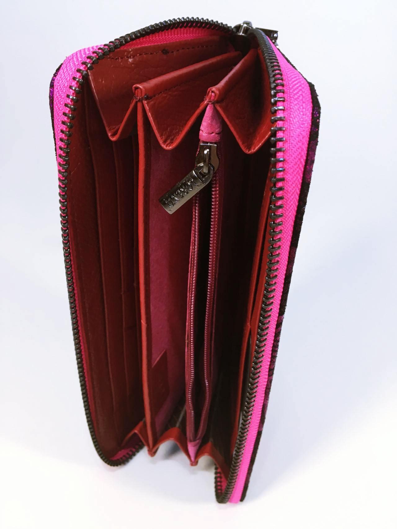 Kožená peněženka Lorenti růžová 06