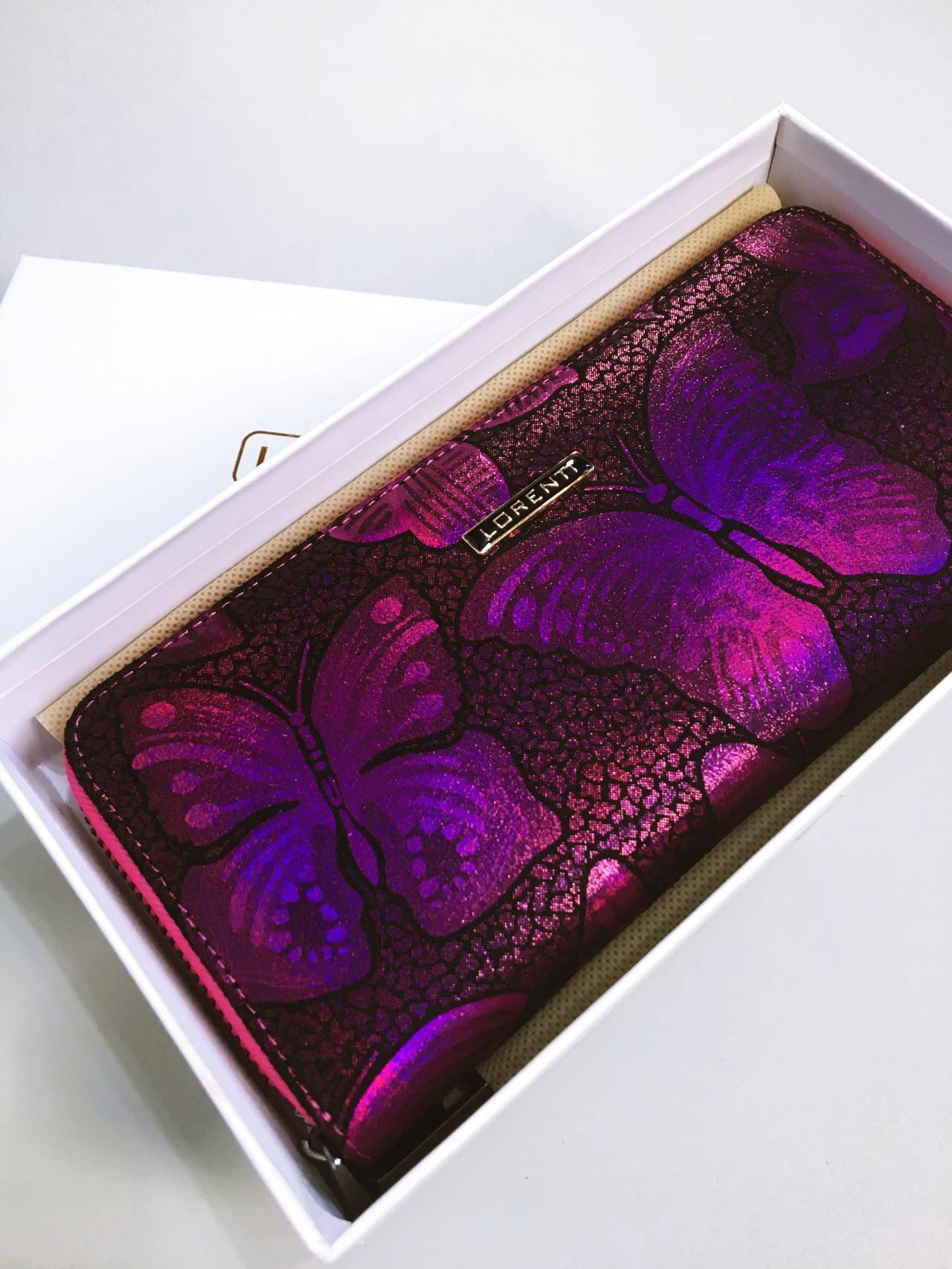 Kožená peněženka Lorenti růžová 07