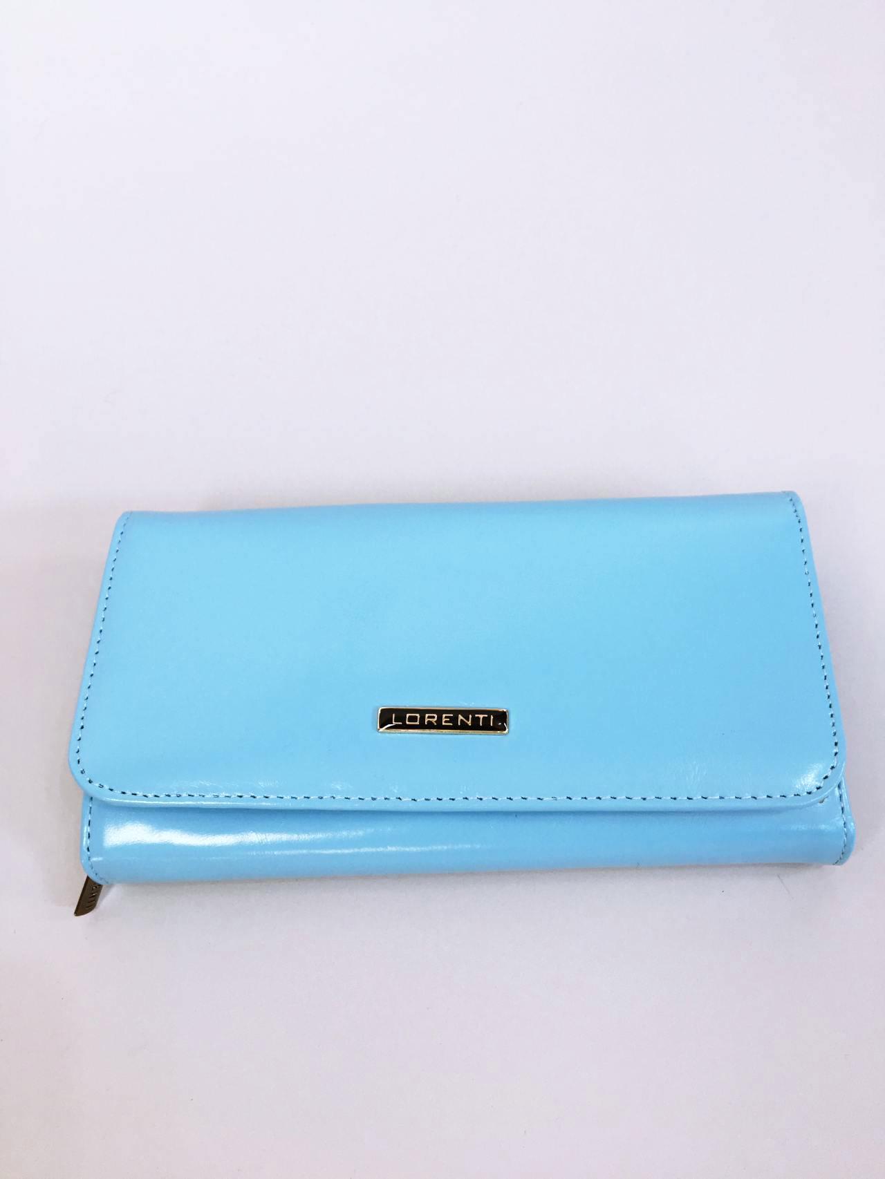 Kožená peněženka Lorenti světle modrá 01