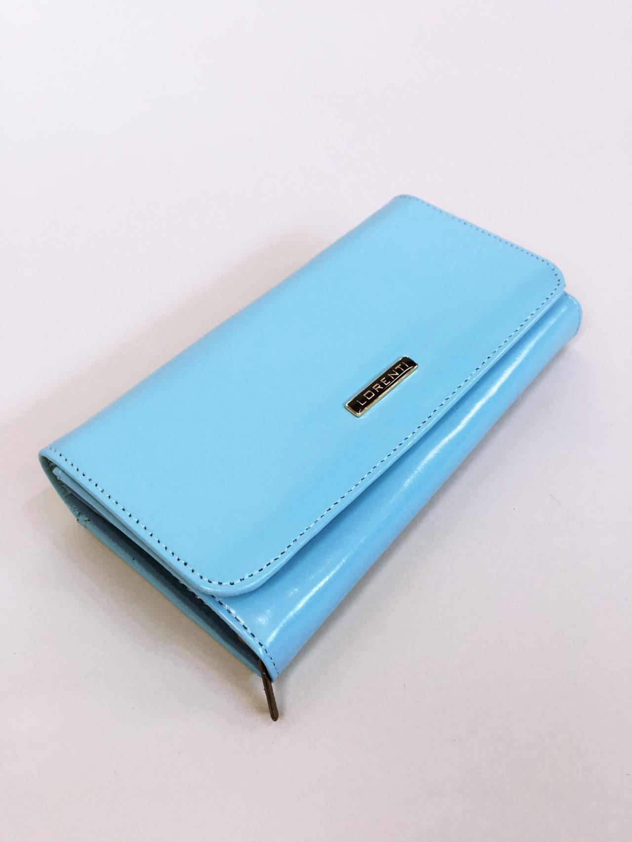 Kožená peněženka Lorenti světle modrá 02