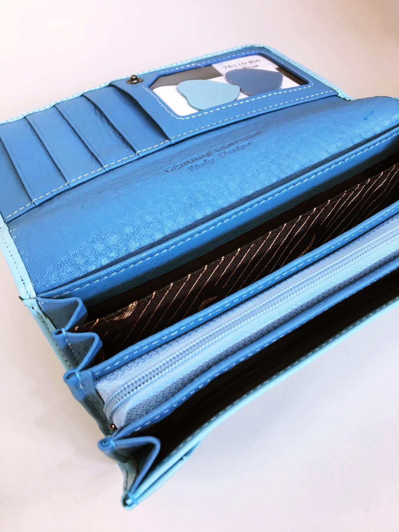 Kožená peněženka Lorenti světle modrá 04