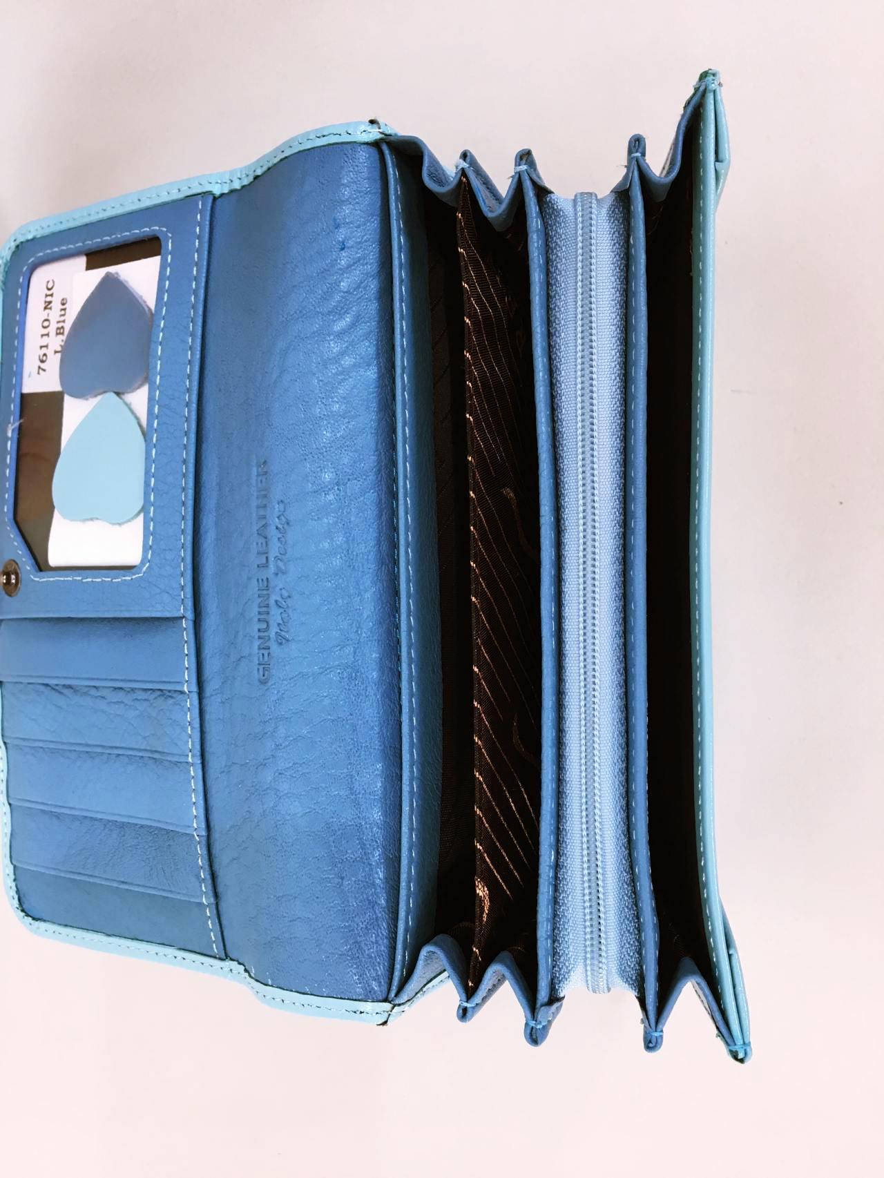 Kožená peněženka Lorenti světle modrá 05