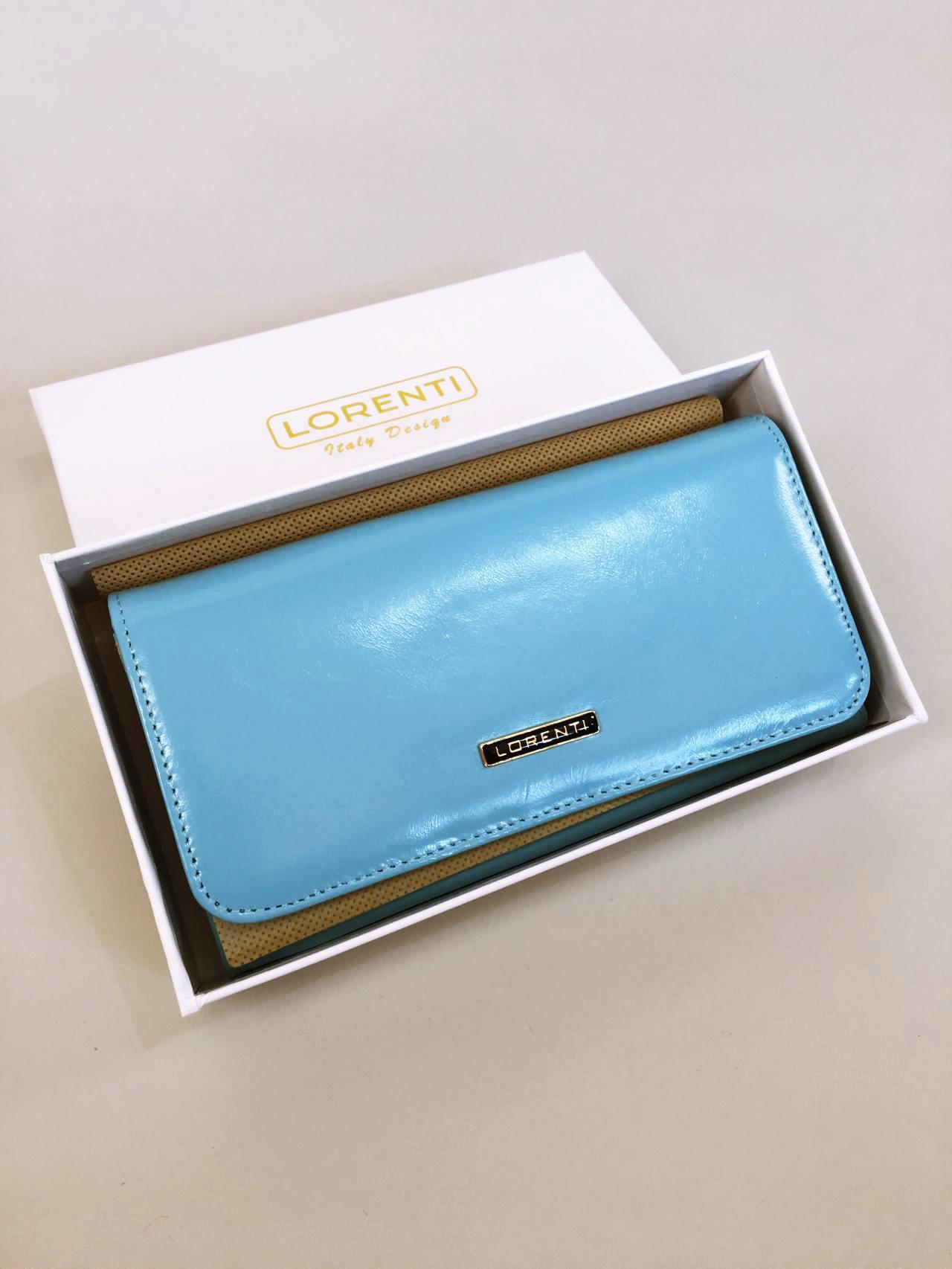 Kožená peněženka Lorenti světle modrá 06