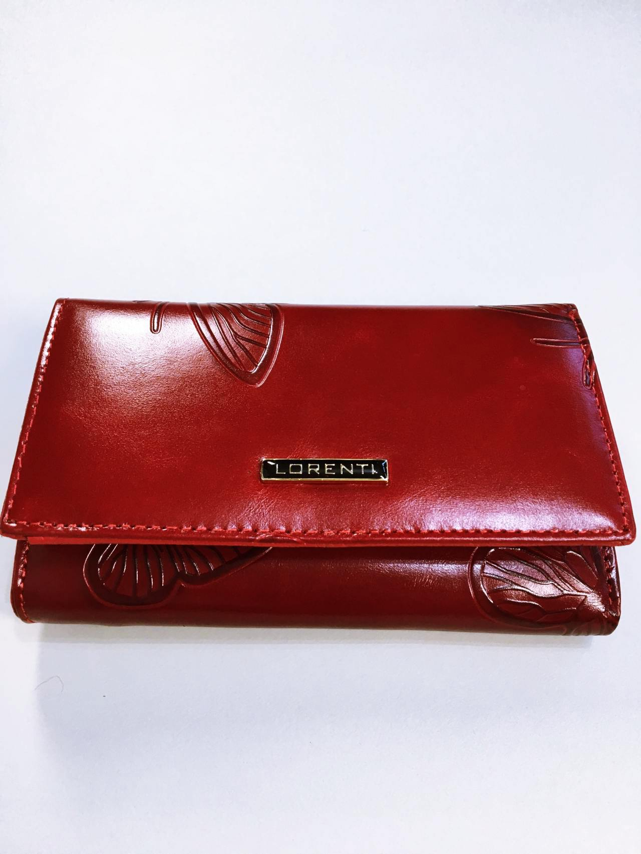 Kožená peněženka Lorenti tmavě červená 01