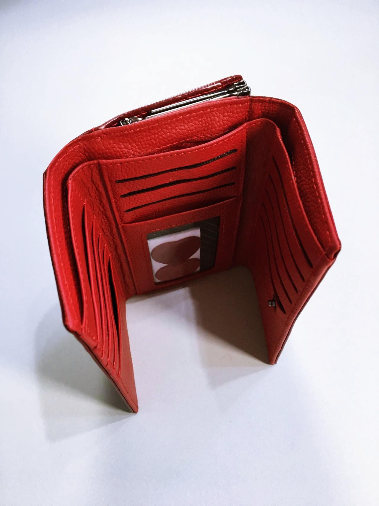 Kožená peněženka Lorenti tmavě červená 03