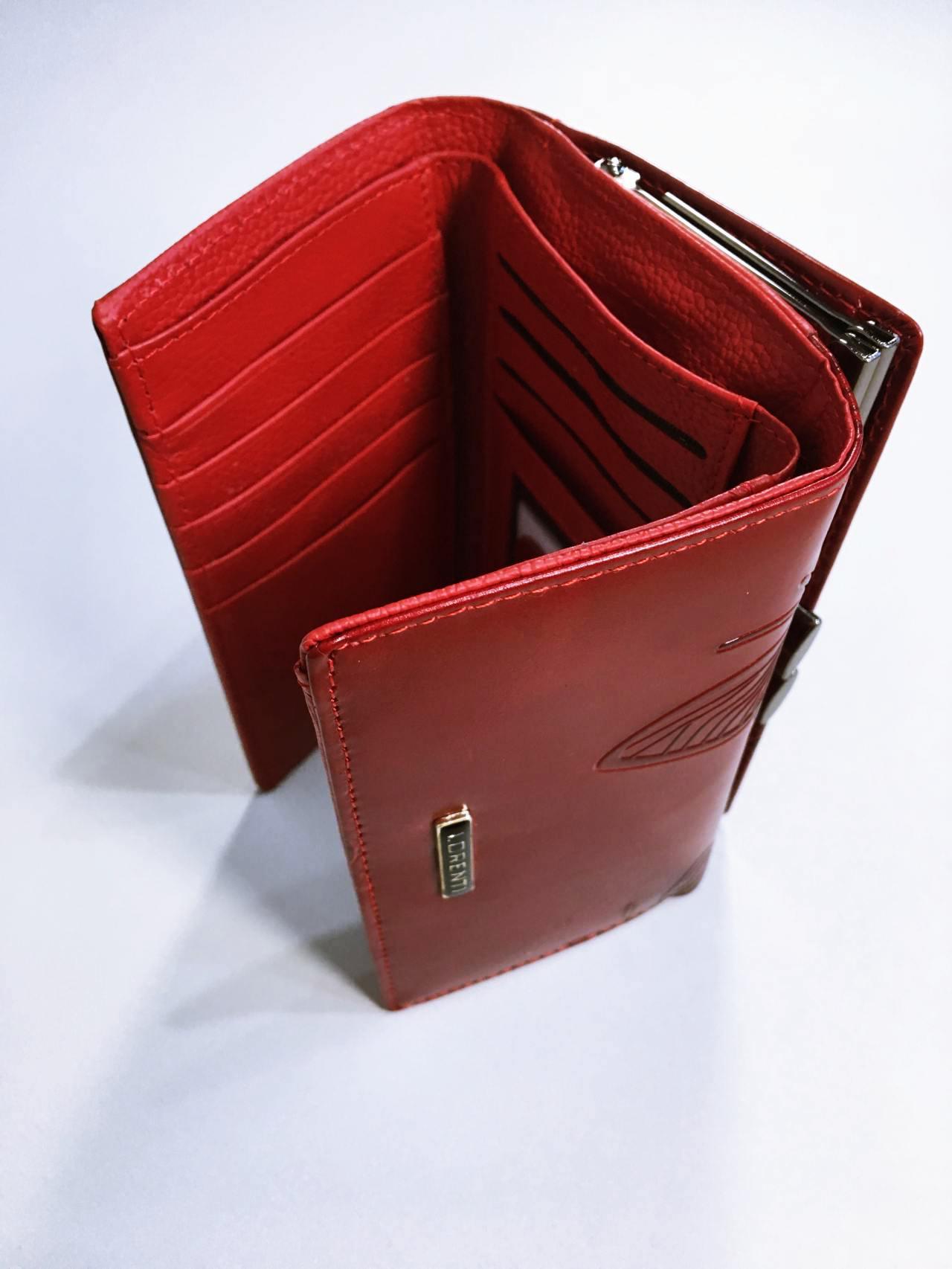 Kožená peněženka Lorenti tmavě červená 04