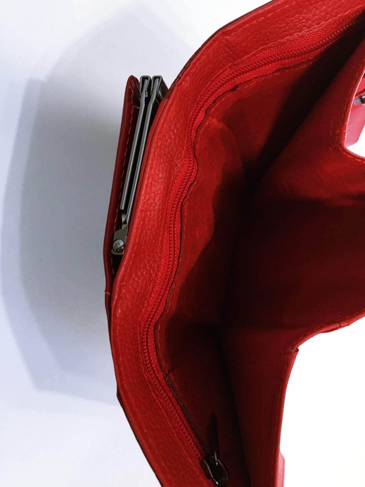 Kožená peněženka Lorenti tmavě červená 05