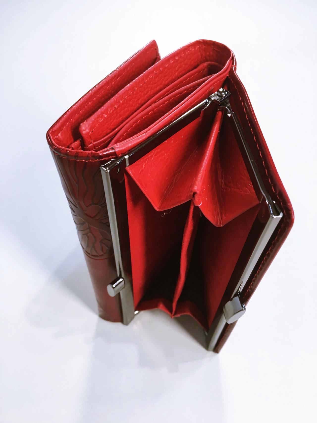 Kožená peněženka Lorenti tmavě červená 06