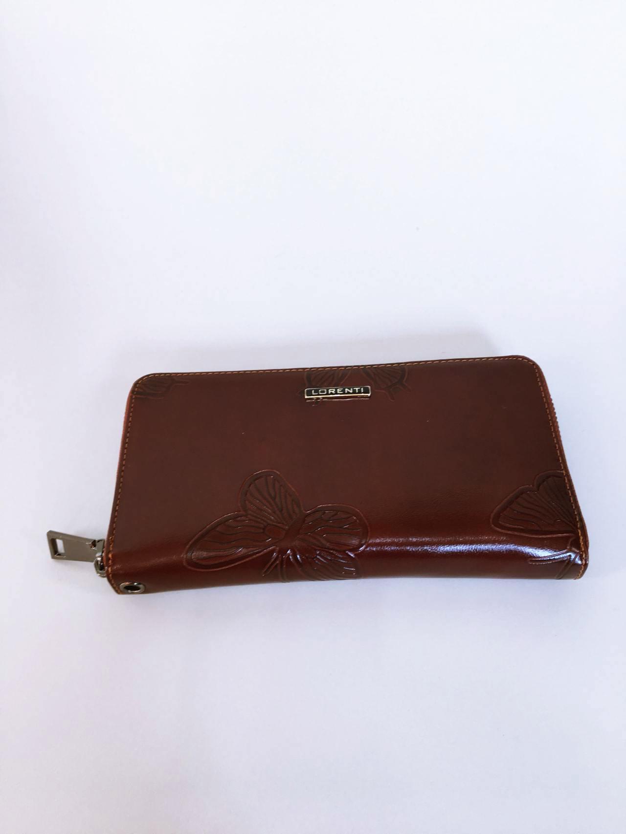 Kožená peněženka Lorenti tmavě hnědá 01