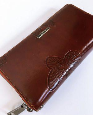 Kožená peněženka Lorenti tmavě hnědá 02