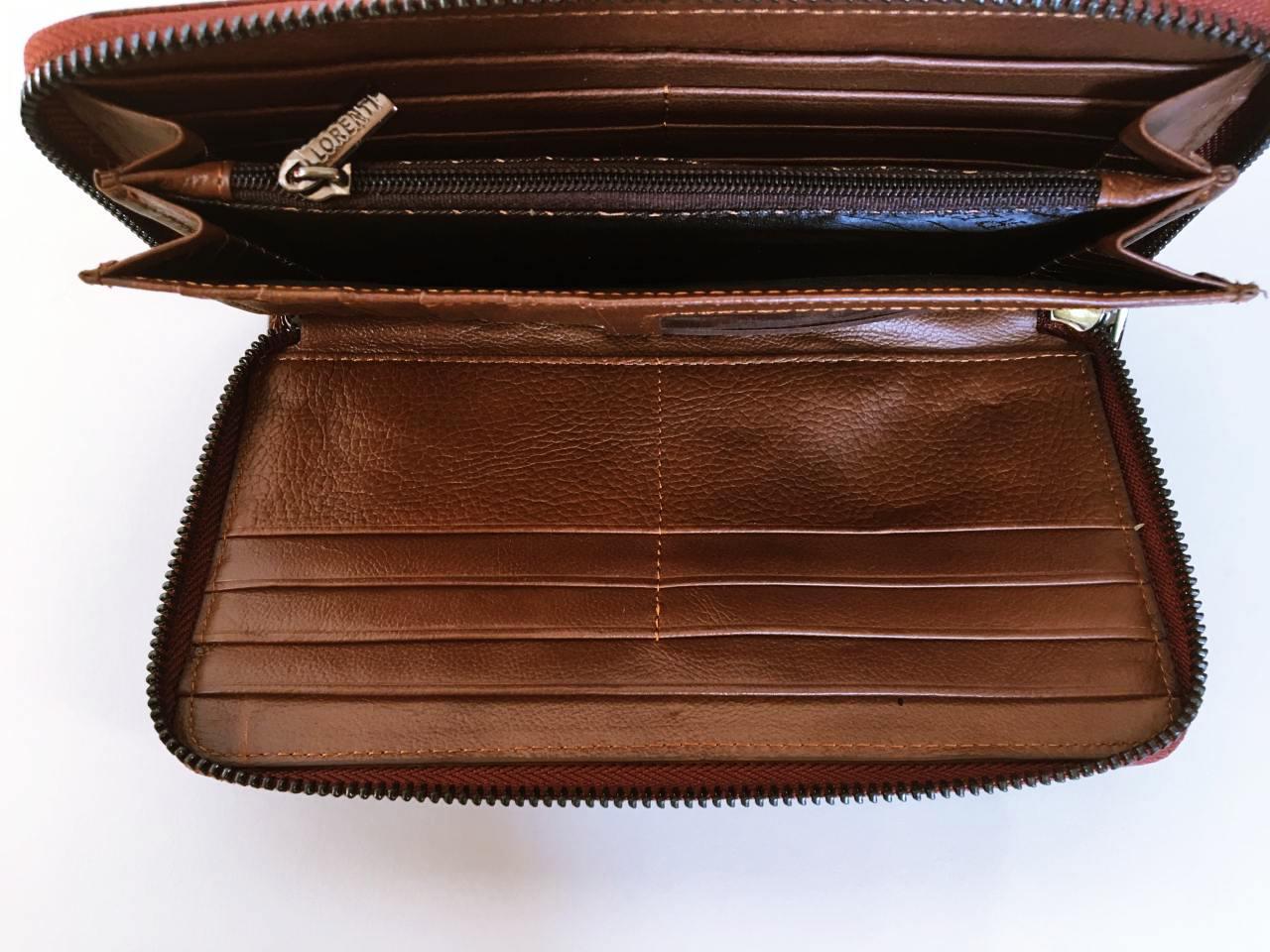 Kožená peněženka Lorenti tmavě hnědá 04