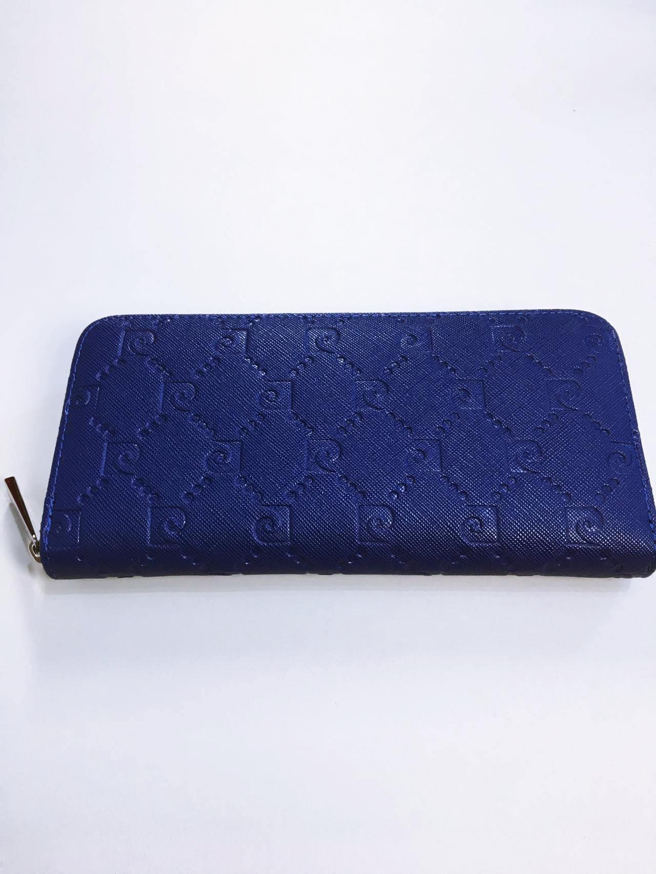 Kožená peněženka Pierre Cardin tmavě modrá 01