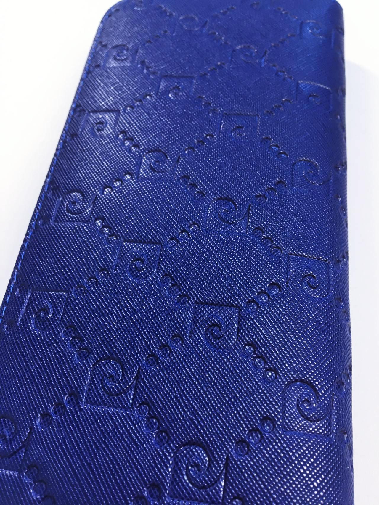 Kožená peněženka Pierre Cardin tmavě modrá 03
