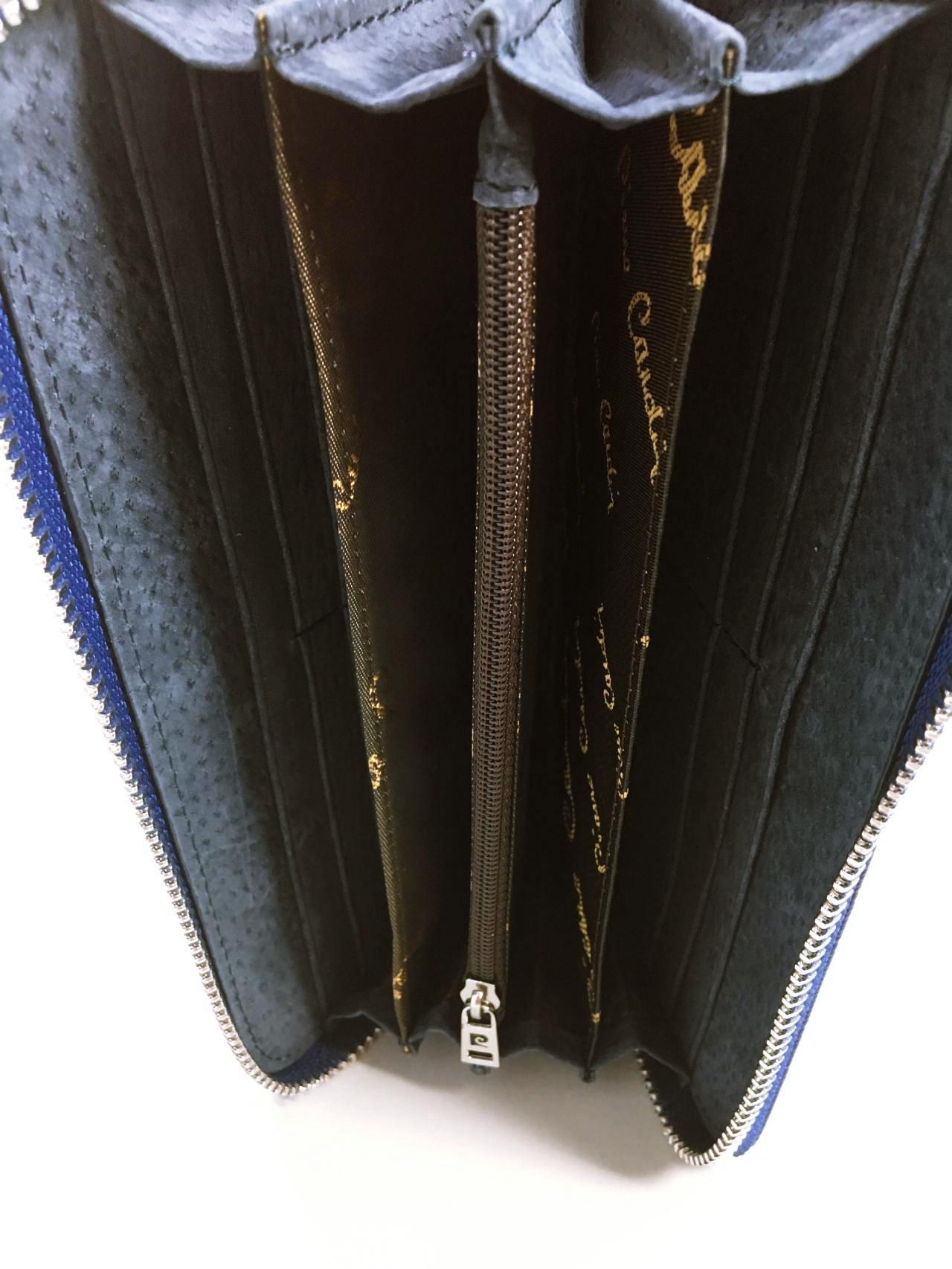 Kožená peněženka Pierre Cardin tmavě modrá 04