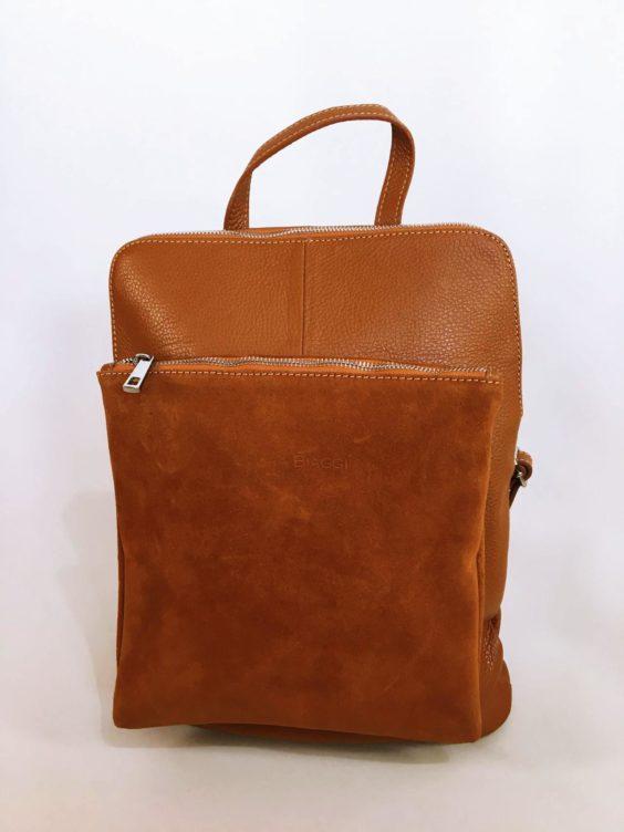 Kožený batoh Corry hnědý 01