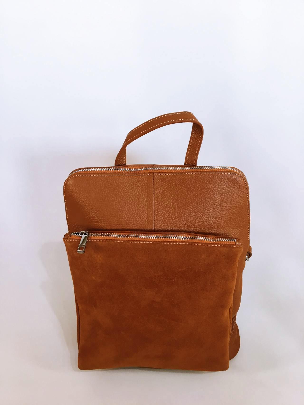 Kožený batoh Corry hnědý 02