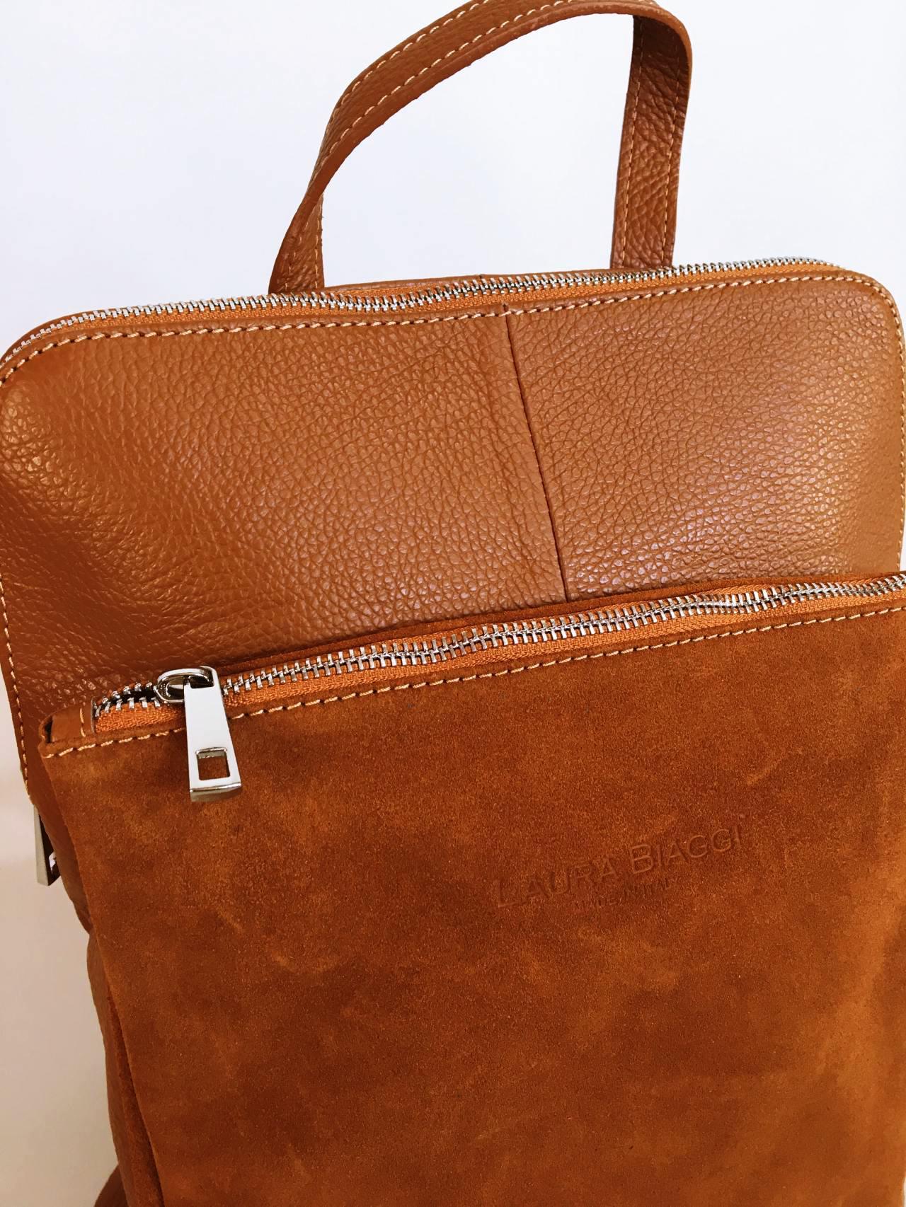 Kožený batoh Corry hnědý 03