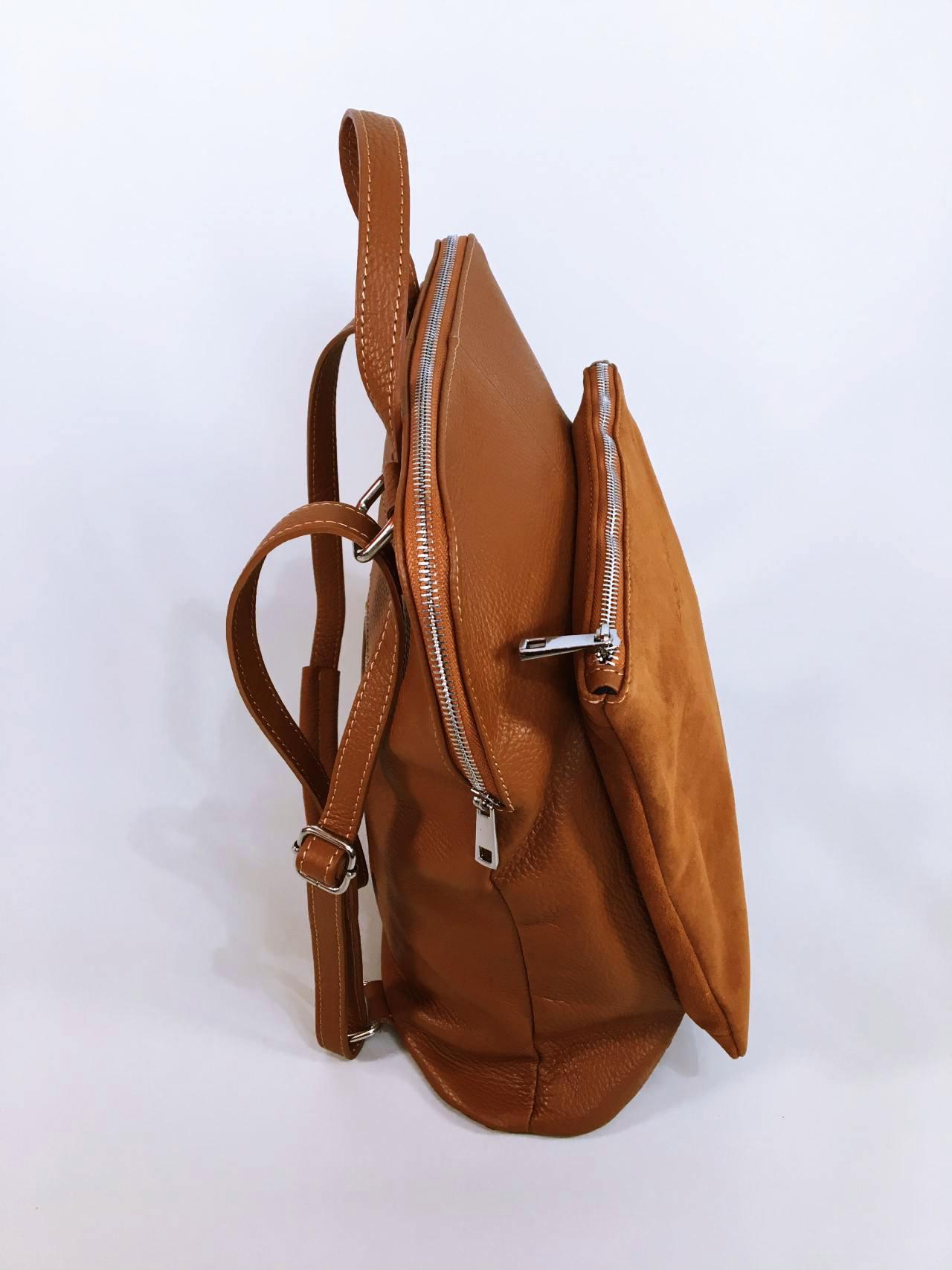 Kožený batoh Corry hnědý 05