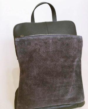 Kožený batoh Corry šedý 03