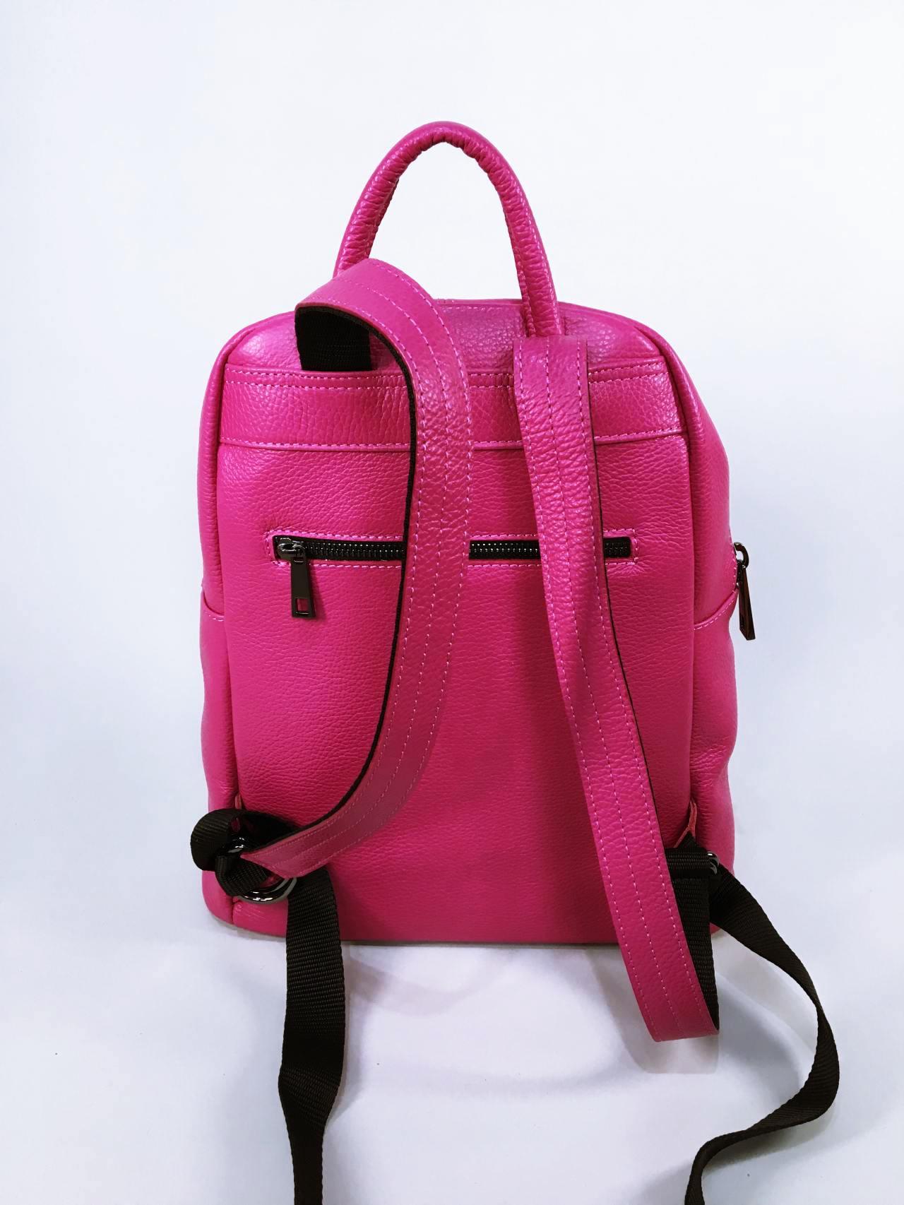 Kožený batoh Pink 02