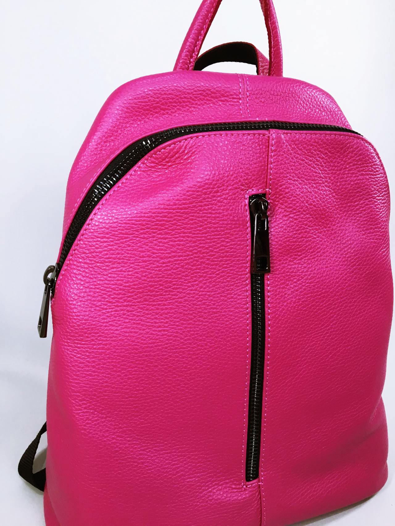 Kožený batoh Pink 03
