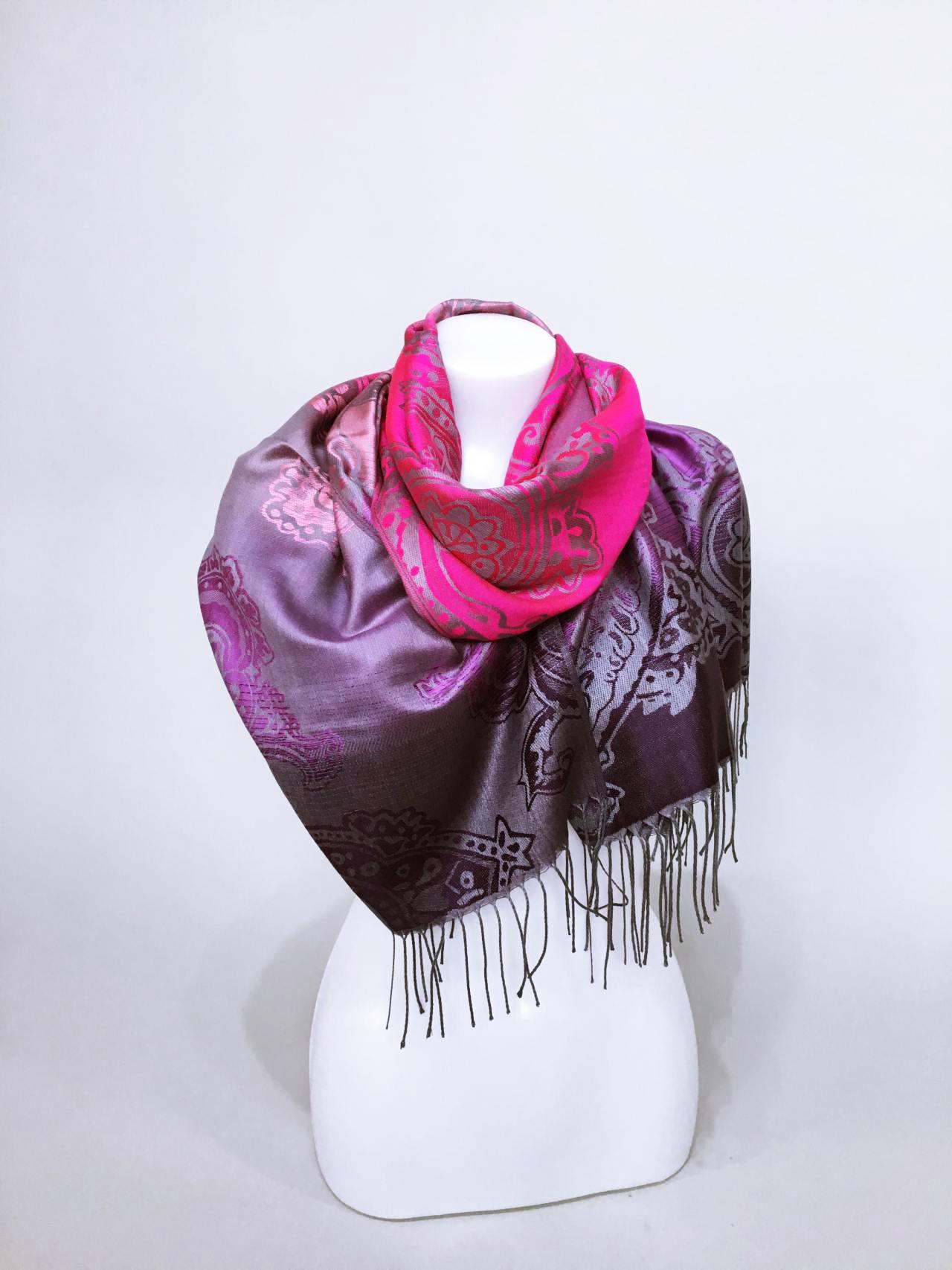 Šála Dolly růžovo fialová 03