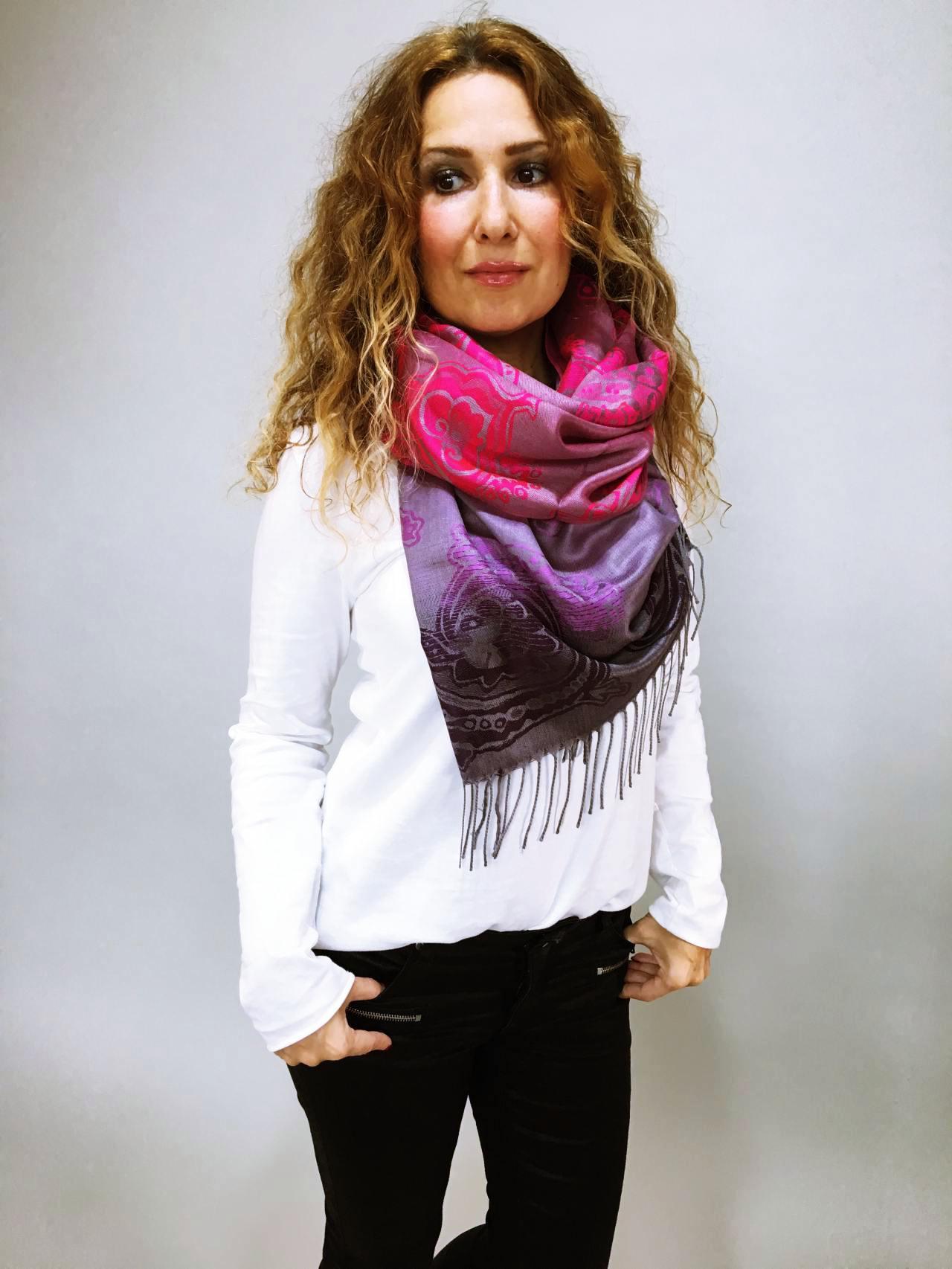 62bc34e9266 Šála Dolly růžovo fialová – Simm-Fashion.cz