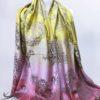 Šála Dolly žluto růžová 01