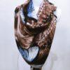 Šála Dorry hnědo modrá 03