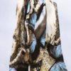 Šála Dorry žluto modrá 01