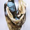 Šála Dorry žluto modrá 02
