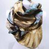 Šála Dorry žluto modrá 03