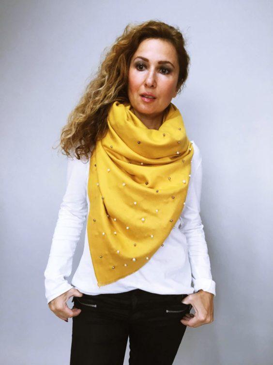Šála Julie žlutá 04